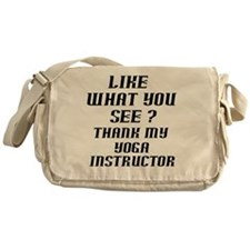 thank my instructor black 1 Messenger Bag