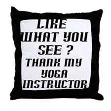 thank my instructor black 1 Throw Pillow