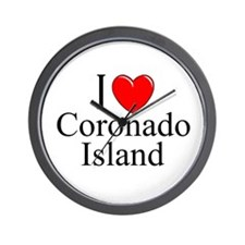 """I Love Coronado Island"" Wall Clock"