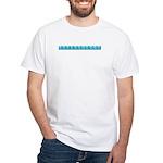 Light Blue Reflexology White T-Shirt