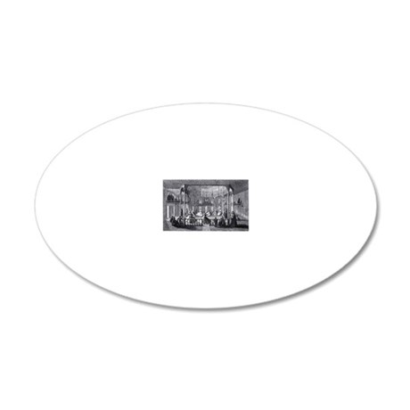 whirling dervish performance 20x12 Oval Wall Decal