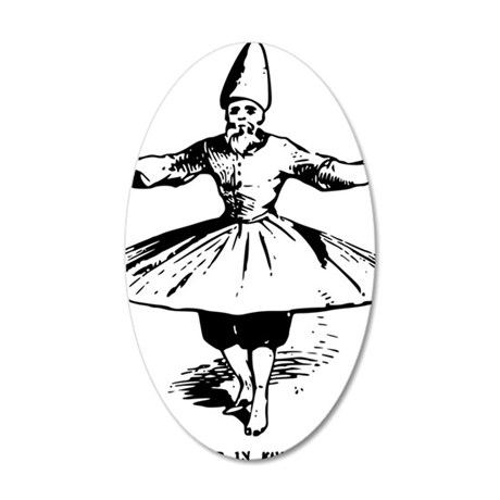 whirling dervish in action 35x21 Oval Wall Decal