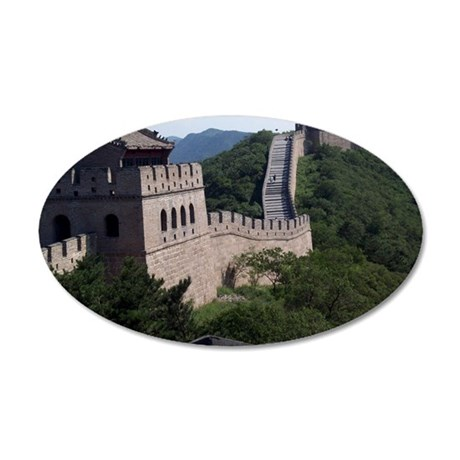 GreatWallOfChina 35x21 Oval Wall Decal