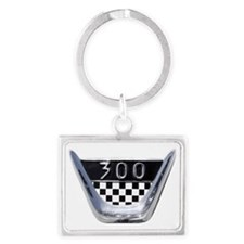 auto-1955-chrysler-300c-badge Landscape Keychain