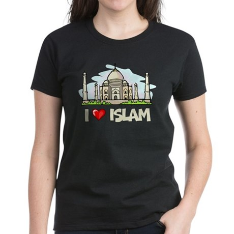 I Love Islam Women's Dark T-Shirt