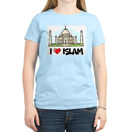 I Love Islam Women's Pink T-Shirt