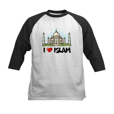 I Love Islam Kids Baseball Jersey
