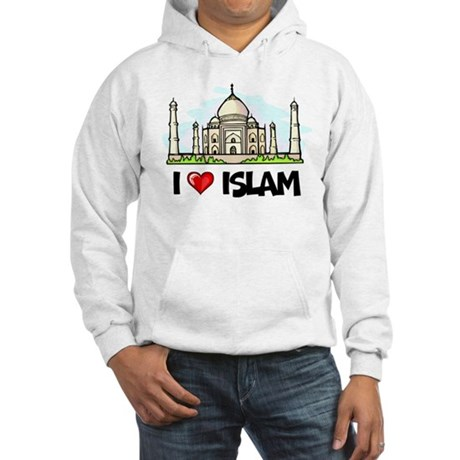 I Love Islam Hooded Sweatshirt