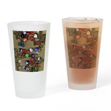Dice and Dungeon Map Drinking Glass