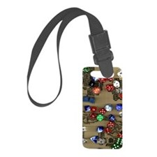 Dice and Dungeon Map Background Luggage Tag