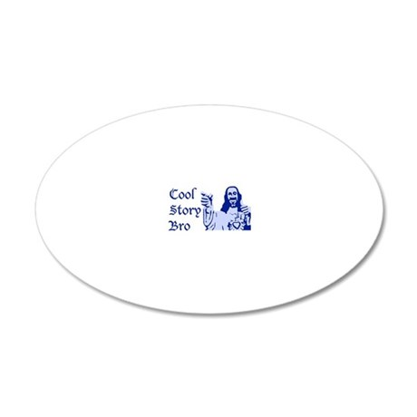 coolstoryjesusblue2 20x12 Oval Wall Decal