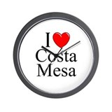 """I Love Costa Mesa"" Wall Clock"
