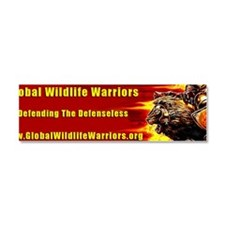 warrior-bumper-200dpi Car Magnet 10 x 3