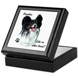 Papillon Breed Keepsake Box
