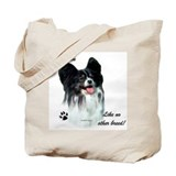 Papillon Breed Tote Bag