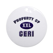 Property of geri Ornament (Round)