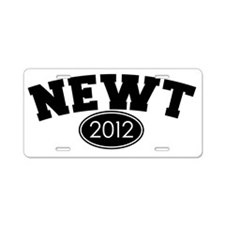 newt_college_01 Aluminum License Plate
