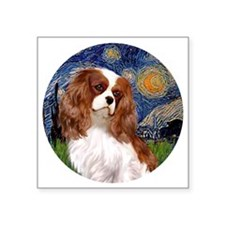 "ORN-Cavalier2-StarryNight Square Sticker 3"" x 3"""