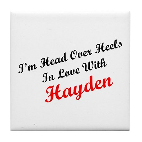In Love with Hayden Tile Coaster
