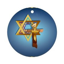 Heart JewelStar Of David and Triple Round Ornament