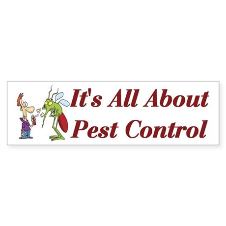 Pest Control Bumper Sticker