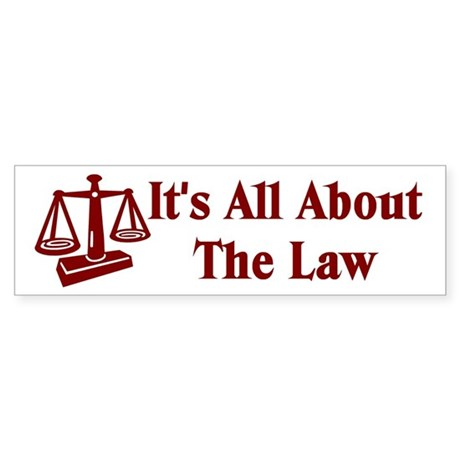 Attorney Lawyer Bumper Sticker