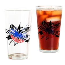 Manchester Outline black Drinking Glass