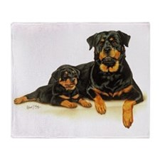 Rott  Pup Throw Blanket