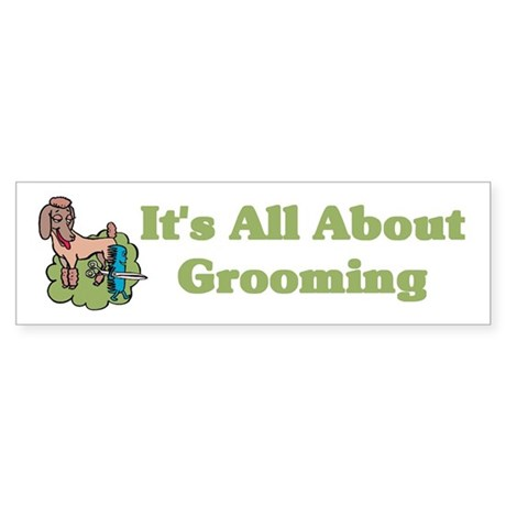 Animal Pet Groomer Bumper Sticker