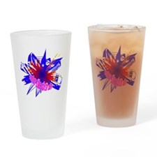 Manchester Outline blue Drinking Glass
