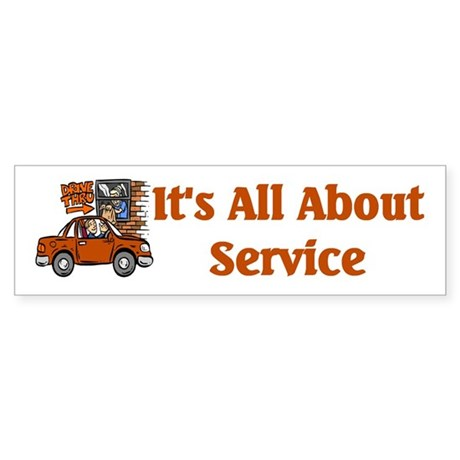 Food Service Worker Bumper Sticker