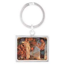 Egyptian_glassblower Landscape Keychain