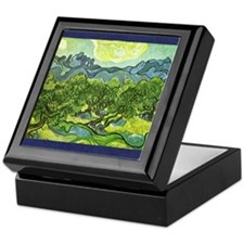 Van Gogh olive trees Keepsake Box