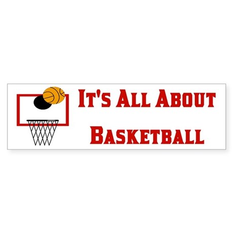 Basketball Coach or Player Bumper Sticker