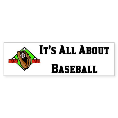 Baseball Coach or Player Bumper Sticker