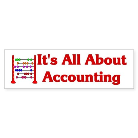 Accountant CPA Bookkeeper Bumper Sticker