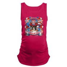 American Pride Boston Terrier Maternity Tank Top