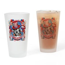 American Pride Great Dane Drinking Glass