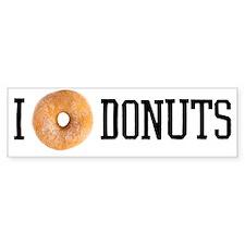 i [donut] donuts Bumper Sticker