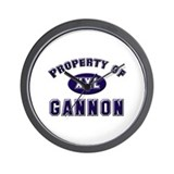Property of gannon Wall Clock