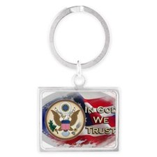 USA In God We Trust Landscape Keychain