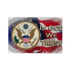 USA In God We Trust Rectangle Magnet