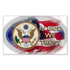 USA In God We Trust Decal