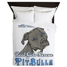 Real Girls Rescue Pitbulls Queen Duvet