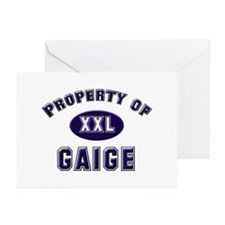 Property of gaige Greeting Cards (Pk of 10)