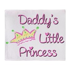 Daddys Little Princess Throw Blanket