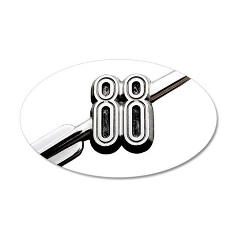 auto-oldsmobile-88-001b 35x21 Oval Wall Decal