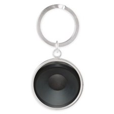 cab12on15g_black_speakloud Round Keychain