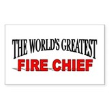 """The World's Greatest Fire Chief"" Decal"