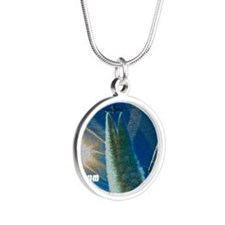 chemtrails-1 Silver Round Necklace
